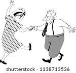 cute senior citizens couple... | Shutterstock .eps vector #1138713536
