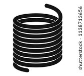 metal spring coil icon. simple... | Shutterstock .eps vector #1138713656