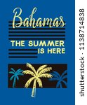bahamas the summer is here t... | Shutterstock .eps vector #1138714838
