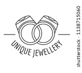 unique rings jewellery logo....   Shutterstock .eps vector #1138715060