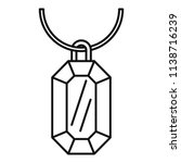 gemstone necklace icon. outline ... | Shutterstock .eps vector #1138716239