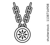 necklace medallion icon.... | Shutterstock .eps vector #1138716908