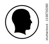 man profile icon  silhouette of ... | Shutterstock .eps vector #1138720280