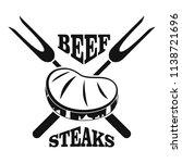 beef steaks logo. simple...   Shutterstock .eps vector #1138721696