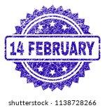 14 february stamp watermark... | Shutterstock .eps vector #1138728266