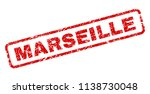 marseille stamp seal print with ... | Shutterstock .eps vector #1138730048