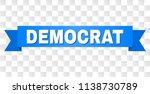democrat text on a ribbon.... | Shutterstock .eps vector #1138730789