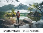 scenic view of a man wearing a... | Shutterstock . vector #1138731083