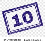 10 stamp seal print with rubber ... | Shutterstock .eps vector #1138731338