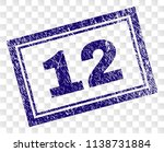 12 stamp seal print with rubber ... | Shutterstock .eps vector #1138731884