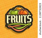 logo for set of fresh fruits ... | Shutterstock . vector #1138732823