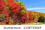 scenic drive through the blue... | Shutterstock . vector #1138733069