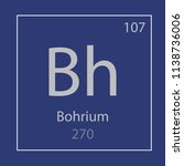 bohrium bh chemical element... | Shutterstock .eps vector #1138736006