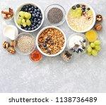 breakfast food table. plant...   Shutterstock . vector #1138736489