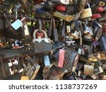 padlocks hung by newlyweds on... | Shutterstock . vector #1138737269