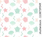cute lovely summer seamless... | Shutterstock .eps vector #1138739549