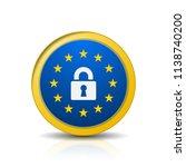 eu gdpr label illustration | Shutterstock .eps vector #1138740200