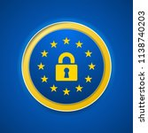 eu gdpr label illustration | Shutterstock .eps vector #1138740203