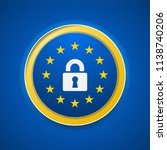 eu gdpr label illustration | Shutterstock .eps vector #1138740206