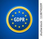 eu gdpr label illustration | Shutterstock .eps vector #1138740209