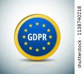 eu gdpr label illustration | Shutterstock .eps vector #1138740218