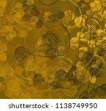 contemporary art. hand made art.... | Shutterstock . vector #1138749950