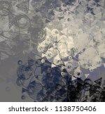 contemporary art. hand made art.... | Shutterstock . vector #1138750406