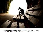 depression  teen depression ... | Shutterstock . vector #113875279