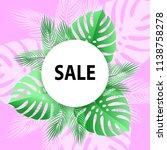 summer floral sale banner.... | Shutterstock .eps vector #1138758278