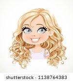 beautiful joyfully smiling... | Shutterstock .eps vector #1138764383