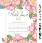 vector delicate invitation with ... | Shutterstock .eps vector #1138766624
