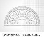 school supplies. measuring tool.... | Shutterstock .eps vector #1138766819
