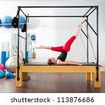 pilates aerobic instructor... | Shutterstock . vector #113876686