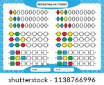 complete repeating patterns.... | Shutterstock .eps vector #1138766996
