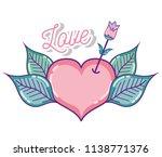 cute love cartoon  | Shutterstock .eps vector #1138771376