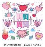 cute love cartoons   Shutterstock .eps vector #1138771463