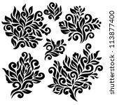 vector floral elements | Shutterstock .eps vector #113877400