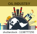 oil industry world truck tanker ... | Shutterstock .eps vector #1138777250