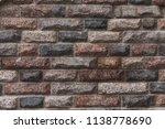 granite cobble stone pavement... | Shutterstock . vector #1138778690