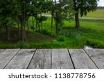 wooden planks on the background ... | Shutterstock . vector #1138778756