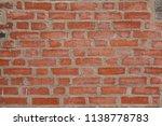 red brick wall texture | Shutterstock . vector #1138778783