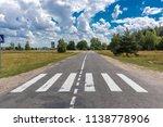 pedestrian crossing in the... | Shutterstock . vector #1138778906
