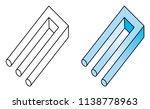 blivet  impossible trident  a... | Shutterstock .eps vector #1138778963