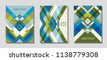 set of cover page layouts ... | Shutterstock .eps vector #1138779308