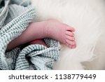 feet of a newborn baby | Shutterstock . vector #1138779449