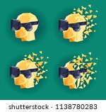 virtual reality goggles low... | Shutterstock .eps vector #1138780283