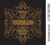 antique label  vintage frame... | Shutterstock .eps vector #1138780388