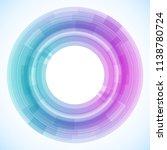 geometric frame from circles ... | Shutterstock .eps vector #1138780724