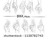 mudras yoga hand positions   Shutterstock .eps vector #1138782743