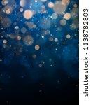 blurred bokeh light on dark... | Shutterstock .eps vector #1138782803